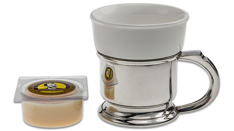 Colonel Conk #127 Shave Mug with Pewter Caddy