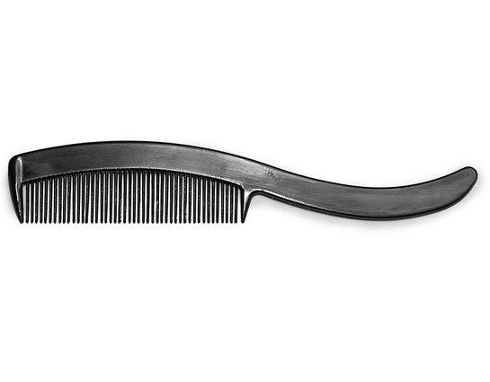 Colonel Conk Black Moustache Comb, 4-3/4 inch Overall