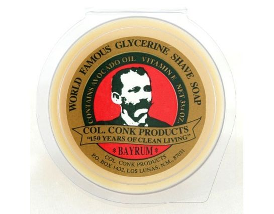 Colonel Conk #143 Regular Size Bay Rum Shave Soap 2.25 oz.
