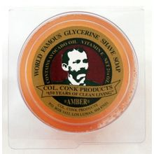 Colonel Conk #114 Regular Size Amber Shave Soap 2.25 oz.