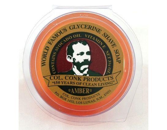 Colonel Conk #123 Super Size Amber Shave Soap 3.75 oz.