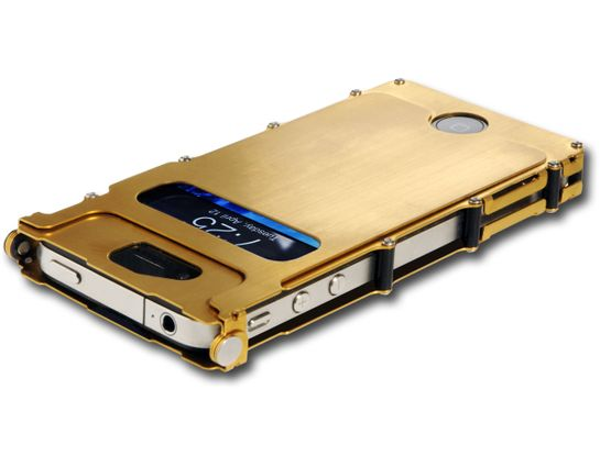 Columbia River iNoxCase Stainless Steel iPhone 4 or iPhone 4S Case, Gold