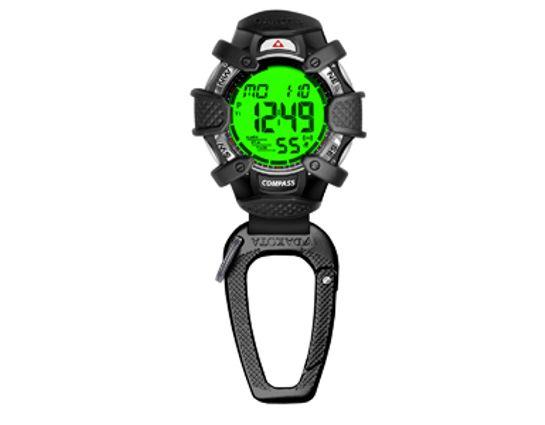 Dakota Watch Company Tough Clip, Digital Dial, Black Case