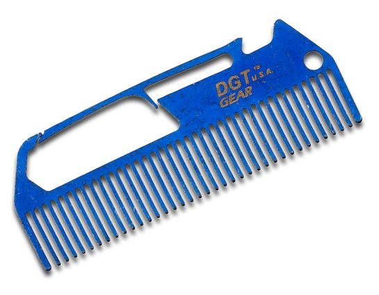 DGT Gear Titanium Comb-Biner One-Piece Multi-Tool, Blue Anodized