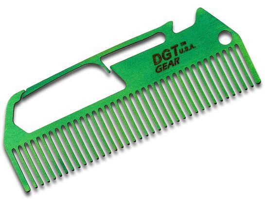 DGT Gear Titanium Comb-Biner One-Piece Multi-Tool, Green Anodized