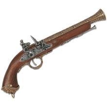 Denix Replica 18th Century Italian Pirate Flintlock Pistol, Brass