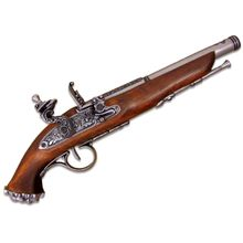 Denix Reproduction 18th Century Flintlock Pirate Pistol, Gray
