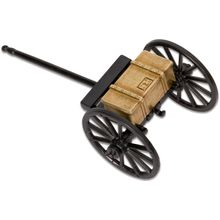 Denix Miniature 1857 American Civil War Limber, Black/Brass Metal