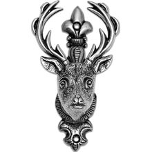 Denix Silver 2-Piece Gun or Sword Hangers with Deer Design