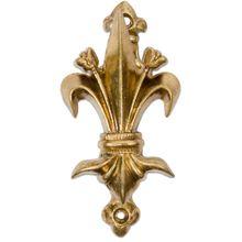 Denix 2-Piece Fleur de Lys Wall Hanger, Brass