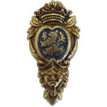 Denix 2-Piece Heraldic Crest Wall Hanger, Brass