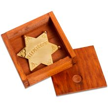 Denix Replica Sheriff's Badge with Display Box, 24k Gold Plated