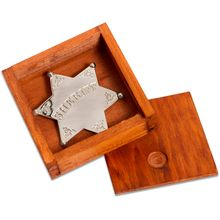 Denix Replica Sheriff's Badge with Display Box, Silver Plated