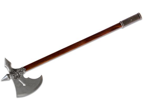 Denix Reproduction 15th Century French Battle Axe, Pewter