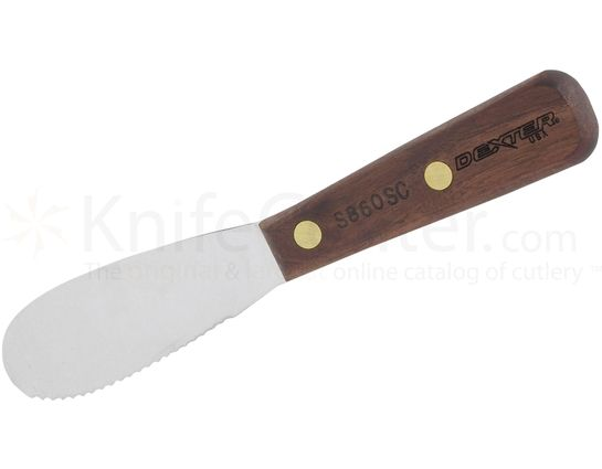 Dexter Scalloped Sandwich Spreader Walnut Handle 7-1/2 inch Overall Length, Made in the USA