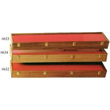 Cherry Wood Sword Display Case 9 inch x 42 inch x 4 inch