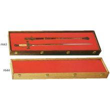 Cherry Wood Sword Display Case 12 inch x 42 inch x 4 inch