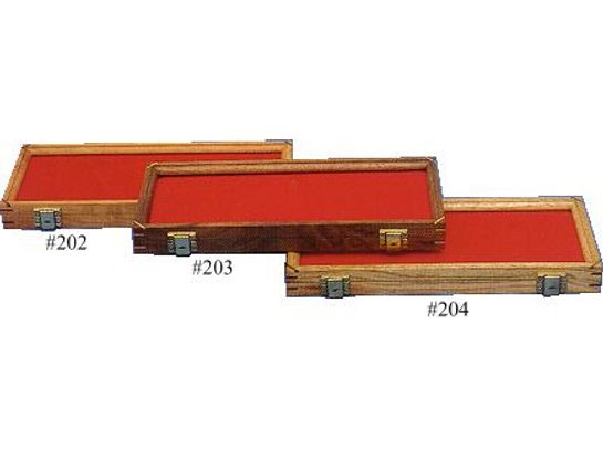 Cherry Wood Display Case 7 inch x 18 inch x 1.875 inch