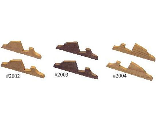 Display Case Feet - Cherry Wood For 1.875 inch Case