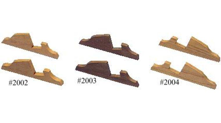Display Case Feet - Oak Wood For 3.875 inch Case