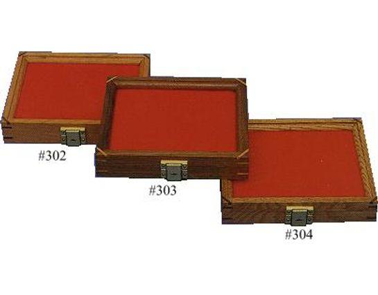 Cherry Wood Display Case 7.5 inch x 9.5 inch x 1.875 inch