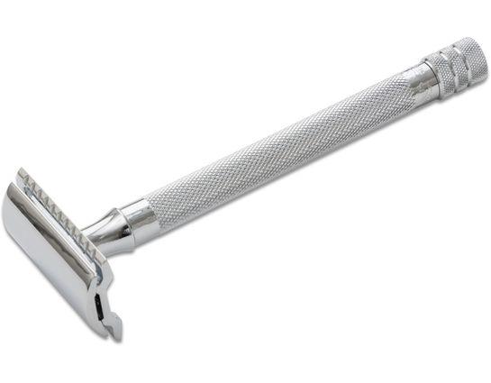 Merkur 24C Long Handle Double Edge Safety Razor 5 inch Long