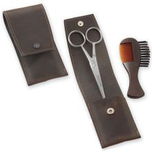 DOVO Men's Beard and Moustache Travel Set (1028 056)