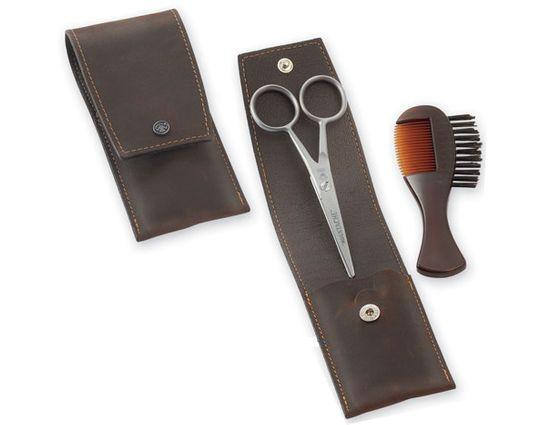 DOVO Men's Beard and Moustache Travel Set (1028 056)