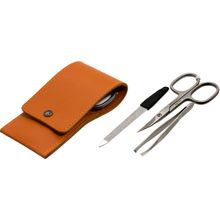DOVO 3-Piece Manicure Set in Calf Leather Terracotta Case (1029076)