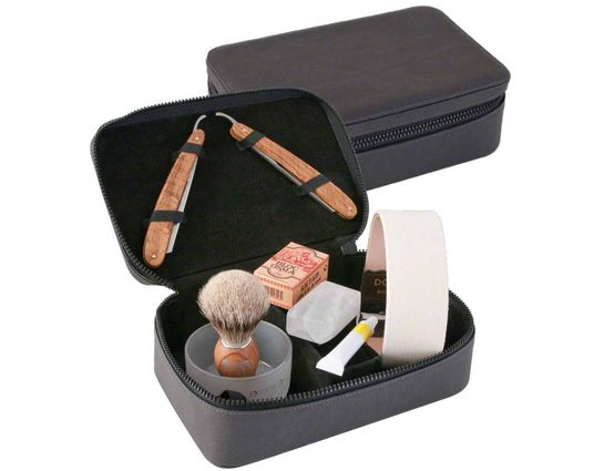 DOVO Straight Razor Travel Shave Set (860115)