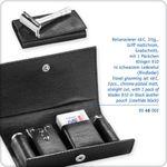 Merkur 46C Straight Cut Safety Razor Travel Grooming Set, Detachable Handle, Extra Pack of Blades