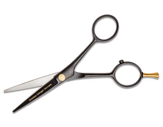 DOVO Hair Scissors Black Cobalt Stainless Steel Adjustable Nut