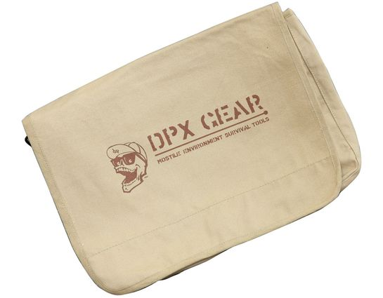 DPx Gear Mr. DP Vintage Paratrooper Canvas Bag 15 inch x 11 inch x 4 inch