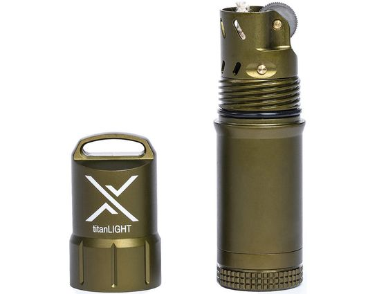 Exotac 5500 titanLIGHT Refillable Lighter, Waterproof, OD Green