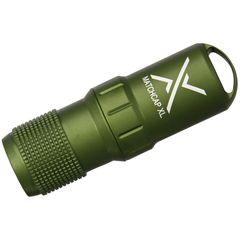 Exotac 4100 MATCHCAP XL Survival Matchcase and Striker, Waterproof, Olive Drab