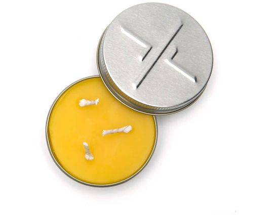 Exotac 2100 Small candleTin Beeswax Survival Candle, Hot Burn