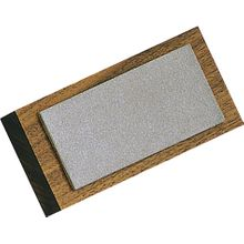 EZE-LAP Diamond Benchstone 4x2 Walnut block Fine Grit