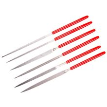 EZE-LAP 600F Fine Grit Diamond Needle Files, 6 Pack, Red Handles