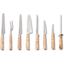 EKA Cuisine 8 Piece Cutlery Set, Curly Birch Handles