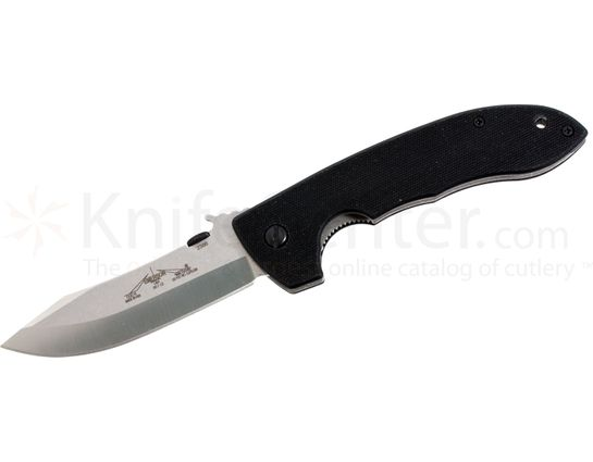 Emerson CQC-8 Folding Knife 3.9 inch Stonewash Plain Blade with Wave, G10 Handles