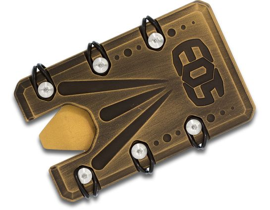 EOS Titanium 2.0 Wallet, Black and Gold Battleworn