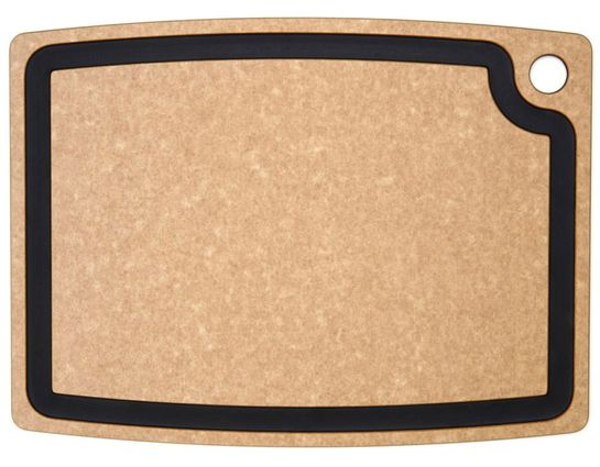 Epicurean Gourmet Series Wood Fiber Cutting Board, Natural/Slate, 17.5 inch x 13 inch