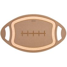 Epicurean Novelty Series Wood Fiber Football Cutting/Serving Board, Nutmeg/Natural, 20 inch x 12 inch