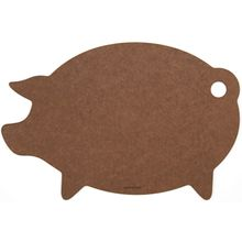 Epicurean Novelty Series Wood Fiber Pig Cutting/Serving Board, Nutmeg/Natural, 16 inch x 11 inch
