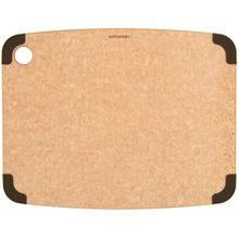 Epicurean Non-Slip Series Wood Fiber Cutting Board, Natural/Brown Corners, 14.5 inch x 11.25 inch