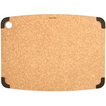 Epicurean Non-Slip Series Wood Fiber Cutting Board, Natural/Brown Corners, 17.5 inch x 13 inch