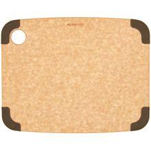 Epicurean Non-Slip Series Wood Fiber Cutting Board, Natural/Brown Corners, 11.5 inch x 9 inch