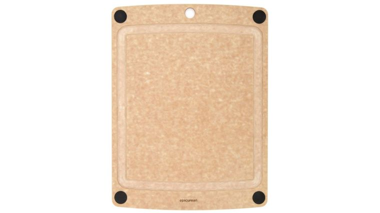 Epicurean All-In-One Wood Fiber Cutting Board, Natural/Black Feet, 14.5 inch x 11.25 inch