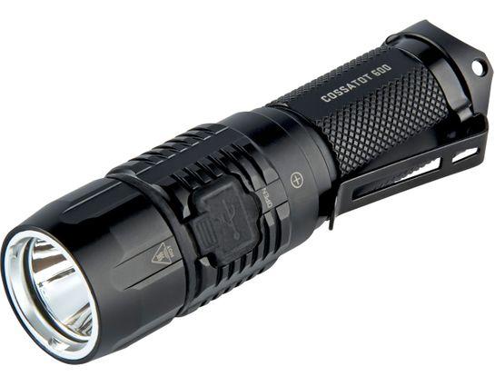 Factor Equipment FC001 Cossatot 600 Rechargeable Tactical LED Flashlight, Black, 600 Max Lumens