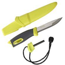 Morakniv Mora of Sweden/Light My Fire Lime FireKnife 3.625 inch Stainless Steel Blade, Lime Green Rubber Handle, Fire Starter